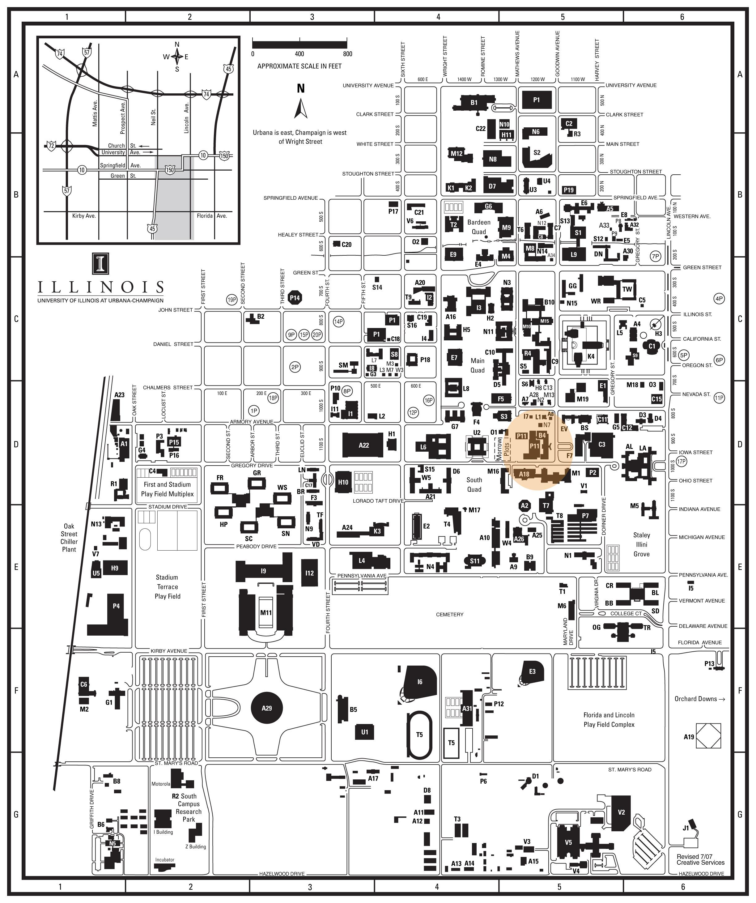 map of university of illinois campus Navigating Chambana Illinois Admissions Blog map of university of illinois campus